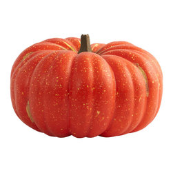 Nearly Natural - Perfect Pumpkin - Here's a pumpkin that looks so real, you'll be tempted to carve a face into it! But don't, because this is a Halloween decoration that you'll turn to time and time again. A full 15' wide, this is a huge specimen that will look great on your porch, in a window, in an office, or anywhere else a little Halloween is necessary. Makes a great gift for that 'Halloween-ist' in your life as well!