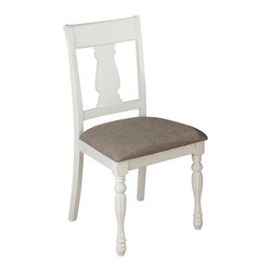 Jofran - Jofran 693-713KD Chesterfield Tavern Splat Back Side Chair (Set of 2) - The Chesterfield Tavern collection will add a country-Chic look to your casual dining space. With eye-Catching details such as fluted legs, beautiful two-toned antiqued tables, detailed scroll and splat back side chairs and a server that boasts plenty of room for your serving essentials this set will add a lot of character to your room. Choose from two table types and two beautiful colors: antique white or antique black.