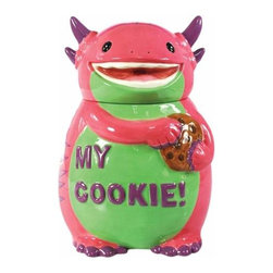 WL - 10.5 Inch Pink and Purple My Cookie! Monster Ceramic Cookie Jar - This gorgeous 10.5 Inch Pink and Purple My Cookie! Monster Ceramic Cookie Jar has the finest details and highest quality you will find anywhere! 10.5 Inch Pink and Purple My Cookie! Monster Ceramic Cookie Jar is truly remarkable.