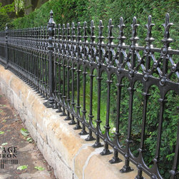 Heritage Cast Iron USA Stewart Half Height Railings - The impressive Victorian inspired Cast Iron Gate and Cast Iron Fence Collections from Heritage Cast Iron USA include beautiful, authentic and faithful reproductions of Scottish, English and Australian designs for traditional Driveway Gates, Pedestrian Gates, Garden Gates, Gate Posts, Railing and magnificent solid Cast Iron Fence Panels and matching Cast Iron Fence Posts.