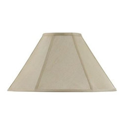CAL Lighting - CAL Lighting 13 in. Cream Fabric Vertical Piped Coolie Shade SH-8101/21-CM - Shop for Lighting & Fans at The Home Depot. This durable fabric shade is a good addition to any decor. It features a round bell shape with visible trim. Simple in design, it works well any many styles and finishes.