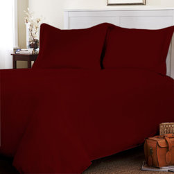 """Egyptian cotton Fitted Sheet With 29"""" Deep Pocket 500 TC Solid (Full XL, Burgund - This is 1 Fitted sheet (54 x 80 inches) only."""