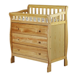 Dream On Me - Marcus Changing Table and Dresser - The Dream on Me Marcus Changing table and dresser is a handsomely designed piece of juvenile furniture that compliments any nursery. This beautifully constructed changing table features a safety rail, changing pad and restraining strap with easy release buckle to secure baby safely in place. The 3 easily accessible, spacious drawers beneath accommodate baby's wardrobe and essentials for added convenience. All tools for assembly included. PAD 35x18x9. Features: -Buckle to secure baby safely in place.-Changing pad and restraining strap.-Easily accessible drawers.-Safety Rail.-Spacious drawers beneath accommodate baby's wardrobe.-All tools for assembly included.-Distressed: No.Dimensions: -Dimensions: 43'' H x 23'' W x 36'' D.-Overall Product Weight: 80 lbs.