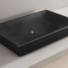 Modern Bathroom Sinks Kubrick Stone Vessel By Art-Bathe