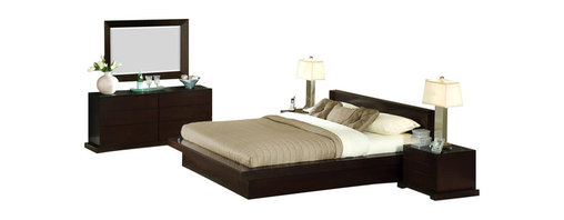 Lifestyle Solutions - 5 Piece Zurich Bedroom Set - 950 Cal King Bed - Crafted using tropical hardwood solids and veneers. Features a solid wood frame. Eight-step Cappuccino finish with durable protective lacquer. 13-slat pack . Center support bar with center support legs . Durable construction. Mattress not included. Solid wood drawer boxes with English Dovetail Joinery front & back. Hand-sanded & stained interiors for all drawers. Clean with damp clothThe Zurich Bedroom group, in its simplicity, lies great functionality. The boxed-in feature for the mattress further accents Zurich's practicality. Its fuss-free lines and understated details make this bed set a sure hit in minimalist decor style. Complimentary 950 Series casegoods complete the look. The 5PC group comes with bed, 2 nightstand, dresser and mirror.