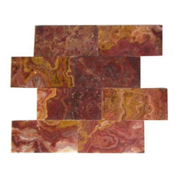 """Marbleville - Multi Red Onyx 3"""" x 6"""" Polished Brick Pattern Mosaic Floor & Wall Tile - Premium Grade Multi Red Onyx 3"""" x 6"""" Polished Finish is a splendid Tile to add to your decor. Its aesthetically pleasing look can add great value to any ambience. This Mosaic Tile is made from selected natural stone material. The tile is manufactured to high standard, each tile is hand selected to ensure quality. It is perfect for any interior projects such as kitchen backsplash, bathroom flooring, shower surround, dining room, entryway, corridor, balcony, spa, pool, etc."""