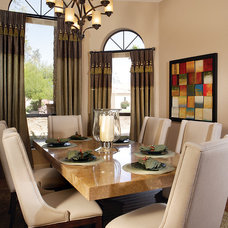 Transitional Dining Room by Guided Home Design