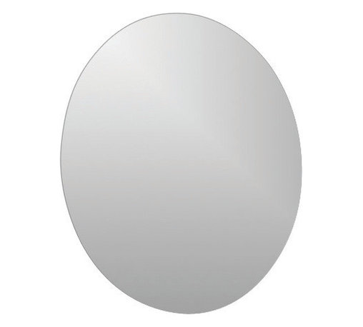 "Adhesive Oval Mirror Diameter 15.7-Inch - This adhesive round mirror for bathrooms will add an elegant ambiance to any room. Fast and easy, you just have to position the adhesives on the back of the mirror and stick it on the wall or tile wall. Now you can give an ordinary room a ""designer's touch"" in minutes with this lightweight mirror. Diameter 15.7-Inch and thickness 0.11-Inch. Only apply, peel and stick the mirror to smooth, clean, and fully cured painted surfaces. Do not apply, peel and stick the mirror to fresh paint, or to delicate surfaces like fabric and wallpaper. Clean with warm soapy water. Clever and practical, this adhesive oval glass mirror will give your bathroom a modern and elegant style! Complete your decoration with other products of the same collection. Imported."