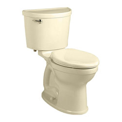 "American Standard - American Standard 211A.A104.021 Champion Pro Right Height Elongated Toilet, Bone - American Standard 211A.A104.021 Champion Pro Right Height Elongated Toilet, Bone. This vitreous china constructed elongated toilet meets EPA WaterSense criteria, a trade-exclusive tank, a PowerWash rim that scrubs the bowl with each flush, a robust metal left-sided trip lever/metal shank fill valve assembly, an EverClean surface, a 4"" piston-action Accelerator flush valve, a 12"" Rough-in, a chrome finish trip lever, and a fully-glazed 2-3/8"" trapway"