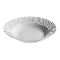 Kate Spade New York - kate spade new york Wickford 9-Inch Rim Soup/Pasta Bowl - This kate spade new york Wickford dinnerware's design is a sophisticated take on white. Versatile white porcelain dinnerware is embossed around the rim with a textural twisting rope design to enhance either a contemporary or traditional table.