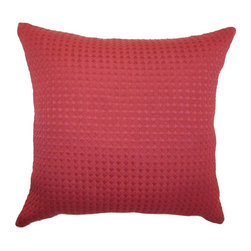 Pillow Collection - The Pillow Collection Kameron Plain Pillow - Claret Multicolor - P18-MVT-1061-CL - Shop for Pillows from Hayneedle.com! Vibrant and bold the Kameron Plain Pillow Claret will provide a burst of color in your cozy home. This solid red accent pillow features a herringbone design in 100% high-quality cotton fabric. About The Pillow CollectionIdentical twin brothers Adam and Kyle started The Pillow Collection with a simple objective. They wanted to create an extensive selection of beautiful and affordable throw pillows. Their father is a renowned interior designer and they developed a deep appreciation of style from him. They hand select all fabrics to find the perfect cottons linens damasks and silks in a variety of colors patterns and designs. Standard features include hidden full-length zippers and luxurious high polyester fiber or down blended inserts. At The Pillow Collection they know that a throw pillow makes a room.