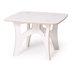 Sprout - Kids Table, White - The Sprout Kids Table is perfect for drawing, play, or projects. Use it like a folding table; break it down when you don't need it and set it up again in just seconds when you need it. Easy assembly is simple enough for your kids to figure out. Our Kids Table requires no tools, no hardware, and is simple to assemble. Patent pending Tension Lock Technology uses the natural properties of wood to create a sturdy durable joint that can be assembled and disassembled repeatedly.
