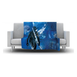 "Kess InHouse - Josh Serafin ""Release"" Blue Black Fleece Blanket (30"" x 40"") - Now you can be warm AND cool, which isn't possible with a snuggie. This completely custom and one-of-a-kind Kess InHouse Fleece Throw Blanket is the perfect accent to your couch! This fleece will add so much flare draped on your sofa or draped on you. Also this fleece actually loves being washed, as it's machine washable with no image fading."