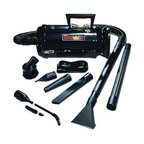 """Metropolitan Vacuum - MDV2TCA DataVac 2-Pro Series 1-1/6-Horsepower Toner Vacuum with Carrying Case - METRO DATAVAC/2TA Black Body/Black Attachments.  Includes: Deluxe Power Unit (1.17PHP Motor) Assembled with Toner Filter Disposable Bag  Permanent Cloth Bag  Cord Storage Halo  6' Flexible Hose  2-20 Extension Wands  Pik-All Nozzle  Powerizer  Air Maximizer  Crevice Tool w/brush insert  Dusting Brush  Air """"Pin Pointer  """"Shoulder Strap"""" 2 Extra Toner filter  plus 4 pc. Micro Cleaning Tool Kit & """"Snorkel"""" Probe. Packed in New  Heavy Duty  Lightweight  Foam Filled  Nylon Carry All with Pockets and Shoulder Strap.   ."""