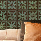 African Flower Stencil - African Flower Stencil from Royal Design Studio for walls, ceiling, floor, and fabric.