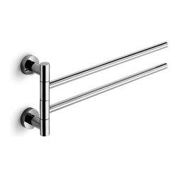 "WS Bath Collections - Baketo 52152 Towel Bar 16.3"" - Baketo by WS Bath Collections Flexible Double Towel Rail 16.3 x 5.9 in Polished Chrome"