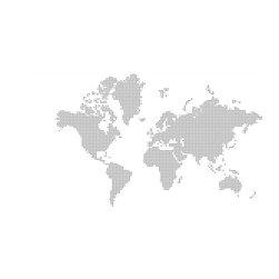 Murals Your Way - World Map - Dots Wall Art - A very modern world map calls for a modern technique