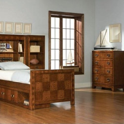 Broyhill - Whitson Twin Bookcase Bed - 6735-361-362-363 - Cinnamon finish