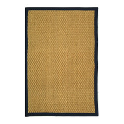 Safavieh - Safavieh Natural Fiber Casual Rug X-QS6-E411FN - Hand-woven with natural sea grass, this casual area rug is innately soft and durable. This densely woven rug will add a warm accent and feel to any home. The 100-percent Cotton canvas backing adds durability.
