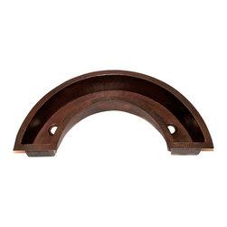 "Artesano Copper Sinks - Horseshoe shape Bar Copper Sink - Undermount - Horseshoe shape Bar Copper Sink - Undermount - 40 x 21 x 6"" - all hand made, all copper, all hammered, gauge 16, drain 2"""