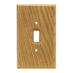 Liberty Hardware - Liberty Hardware 64672 Wood Square WP Collection 3.46 Inch Switch Plate - Medium - A simple change can make a huge impact on the look and feel of any room. Change out your old wall plates and give any room a brand new feel. Experience the look of a quality Liberty Hardware wall plate.. Width - 3.46 Inch,Height - 5.7 Inch,Projection - 0.3 Inch,Finish - Medium Oak,Weight - 0.23 Lbs