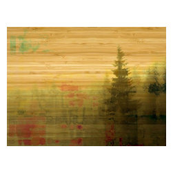 """Parvez Taj - Wall Prints - Meaford Bay - Bamboo, 24""""x32"""" - Natural exposure. This Parvez Taj print uses photography and software to create a peaceful waterfront scene, using ecofriendly bamboo and UV-cured inks. It's a beautiful way to enhance harmony in your environment."""