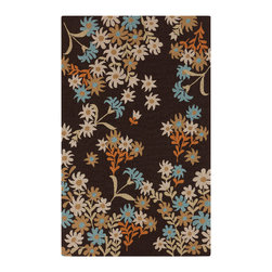 Surya - Surya Cannes Indoor / Outdoor Rectangle Taupe 5' x 8' Area Rug - Surya CNS-5405 Cannes Indoor / Outdoor Rectangle Taupe Hand Hooked - Synthetic 5' x 8' Area Rug
