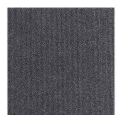 None - Square 12-inch Grey Carpet Tiles (240 SF) - Update your home or office decor with these carpet tiles. These rug pieces measure 12 inches square and are easily replaced.