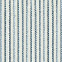 Orien Textile - Ticking Fabric, Nautical - Screen printed on cotton this fabric is perfect for decorating. Colors include grass and ivory. This fabric is great for throw pillows, duvet covers, draperies, valances or light upholstery. Try your hand with tote bags and handbags
