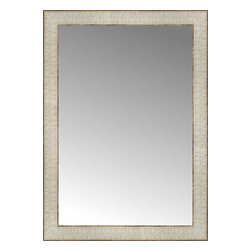 """Posters 2 Prints, LLC - 18"""" x 25"""" Libretto Antique Silver Custom Framed Mirror - 18"""" x 25"""" Custom Framed Mirror made by Posters 2 Prints. Standard glass with unrivaled selection of crafted mirror frames.  Protected with category II safety backing to keep glass fragments together should the mirror be accidentally broken.  Safe arrival guaranteed.  Made in the United States of America"""