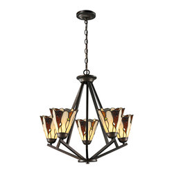 Dale Tiffany - Dale Tiffany TH12434 Ripley 5 Light Chandeliers in Copper Bronze - This 5 light Chandelier from the Ripley collection by Dale Tiffany will enhance your home with a perfect mix of form and function. The features include a Copper Bronze finish applied by experts. This item qualifies for free shipping!