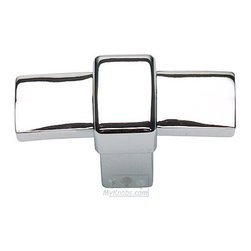 Atlas Homewares - Cabinet Hardware - Buckle Up T Knob in Polished Chrome -
