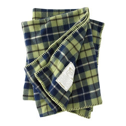 Woolrich - Fawn Grove Wool Throw, Blue Green Plaid - Here's a little warmth sourced straight from the East Coast. Woven in Woolrich's mill in Pennsylvania, this blanket was inspired by the classic patterns that first shaped the company. Each blanket is crafted from 15 ounces of 100% wool with an engineered stripe. Dry clean only. Single-ply with orange whipstitch trim. Measures 56 inches wide by 70 inches long.