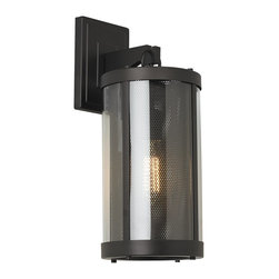 Murray Feiss - Murray Feiss Bluffton Transitional Outdoor Wall Sconce X-BRO10021LO - Inspired by mountain luxe trends, the transitional Bluffton Collection has a perforated screen shade much like that of a cozy fireplace&#8212:with decorative hooks and rods adding to the unique, rustic details. Using antique-style bulbs furthers the warm and inviting look.