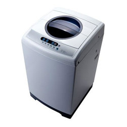 Midea - Top Loading Washing Machine 1.6 Cubic-Foot - MIDEA MAE50-S1102GPS 1.6 cubic foot Top Loading Washing Machine with two water inlets. 120V/60Hz.  STS inner tub.  800rpm Spin Speed.  LED display.