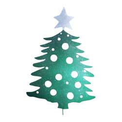 Rustica Ornamentals - Giant Christmas Tree Decoration - This custom designed Christmas Tree decoration is a charming way to add some fun and become a holiday favorite in your yard.