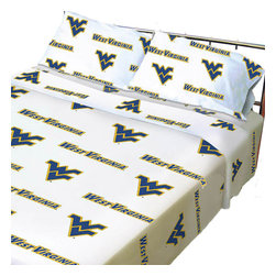 College Covers - NCAA WVU Mountaineers Collegiate Twin X-Long Bed Sheet Set - Features: