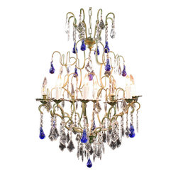 EuroLux Home - Large Maria Theresa Style 12-Arm Chandelier - Product Details