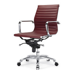 Meelano - M344 Office Chair in Bordeau -