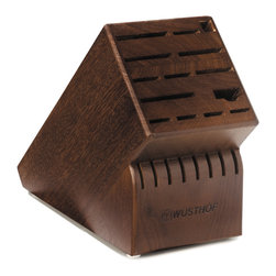 Wusthof - Wusthof 22-Slot Block, Walnut - The handy knife block provides protection for your blades as well as a visual compliment to your kitchen decor.