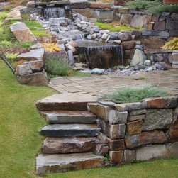 McGregor Lake Dry Stack - Give your patio area a fun natural look by adding some natural stone steps using our Mcgregor Lake Dry Stack Stone.