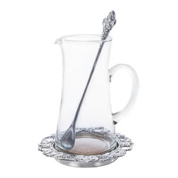 Arthur Court Designs - Grape Beverage Pitcher Set - Wash by hand with mild dish soap and dry immediately. Product not intended as cookware. Can withstand 350 F. Refrigerator and freezer safe.