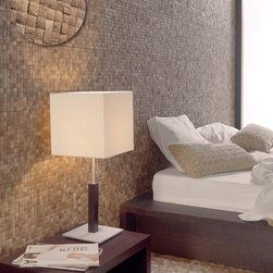 Coco Mat - Dune - natural coconut shell tile - Tropical texture and look of natural coconut shell in a khaki/light brown color.  Coconut shell is mounted onto ceramic tile for easy ceramic tile installation onto dry area walls.  Find a dealer near you by contacting psmith@duneusa.com.
