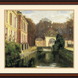 Amanti Art - Chateau du Breau Framed Print by Walter Gay - Evoke feelings of memories past with this painting of Chateau du Breau. It's sure to add a peaceful, inviting atmosphere in any room.