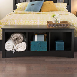 None - Broadway Black Cubbie Bench - Versatile and practical,the Cubbie Bench is at home in any room. Store favorite shoes in the three compartments under the sturdy bench and keep it in your front hallway. It's equally suitable for holding your baskets,books and blankets.