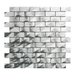 Medium Brick Pattern Aluminum Mosaic Tile Sample