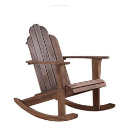 Linon - Woodstock Rocking Chair - Perfect for adding seating to a patio or outdoor space. . Smooth rocking motion will sure to relax you. . Sturdy, durable construction.. Teak Finish. Some Assembly Required. 30.39 in. W x 37.2 in. D x 37.2 in. H. Weight limits: 275 lbs.The Woodstock Teak Rocking Chair is perfect for adding seating to any patio or outdoor space. The chair has a smooth rocking motion that is sure to make you relax. Its sturdy and durable construction will withstand years of use. Finished in a simple teak wood, this classically styled piece will complement any home.