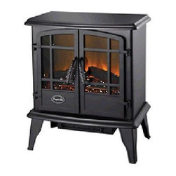 World Marketing - CG Keystone Electric Stove Blk - Comfort Glow Keystone Stove Heater  Black - 4600 BTU's; double door opening; thermostat heat control; flame operates with or without heat; sturdy steel construction  This item cannot be shipped to APO/FPO addresses. Please accept our apologies.