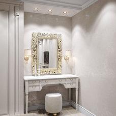 Traditional Powder Room by IZOOOM, design interior studio