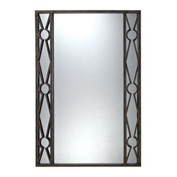 """Sterling Industries - Sterling Industries 6050684 36"""" Height Rectangular Cassero Mirror - Sterling Industries 6050684 36"""" Height Rectangular Cassero MirrorContemporary geometric mirror in antiqued bronze and gold iron frame.Sterling Industries 6050684 Features:"""